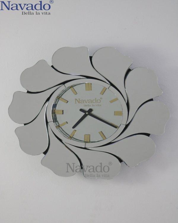 ART FLOWER CLOCK MIROR DESIGN FOR HOUSE
