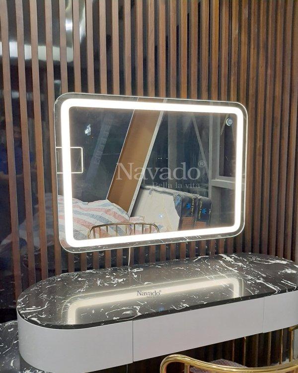 MODERN LED RECTANGLE MAKEUP MIRROR