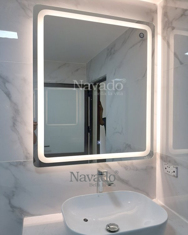 MODERN LED RECTANGLE MIRROR WALL BATHROOM