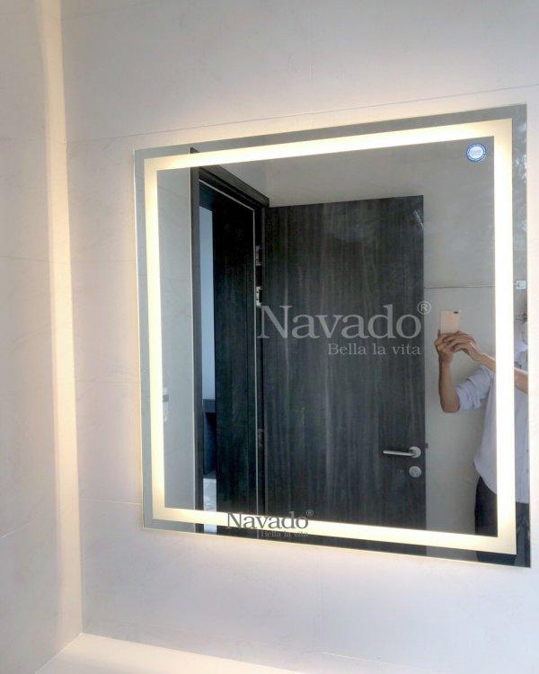 WALL BATHROOM MODERN LED SQUARE MIRROR