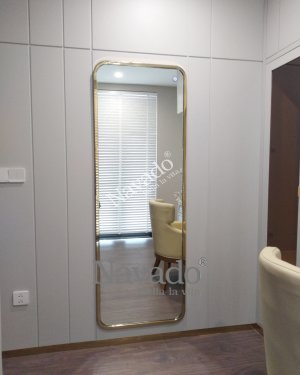 WALL MODERN FULL BODY MIRROR WITH GOLD FRAME