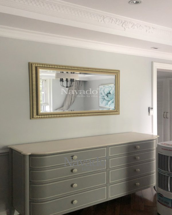 LUXURY RECTANGLE MIRROR WITH CLASSIC FRAME