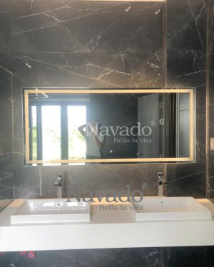 LED RECTANGLE MIRROR WITH LARGE SIZE