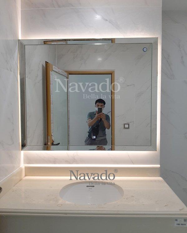 LUXURY LED RECTANGLE BATHROOM MIRROR DECORATE