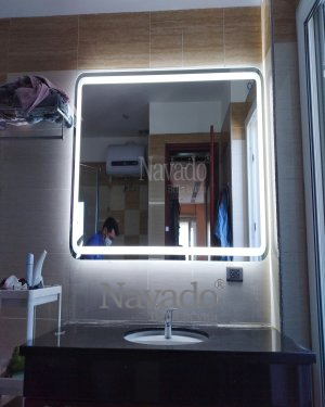 MODERN LARGE LED BATHROOM MIRROR DECORATE