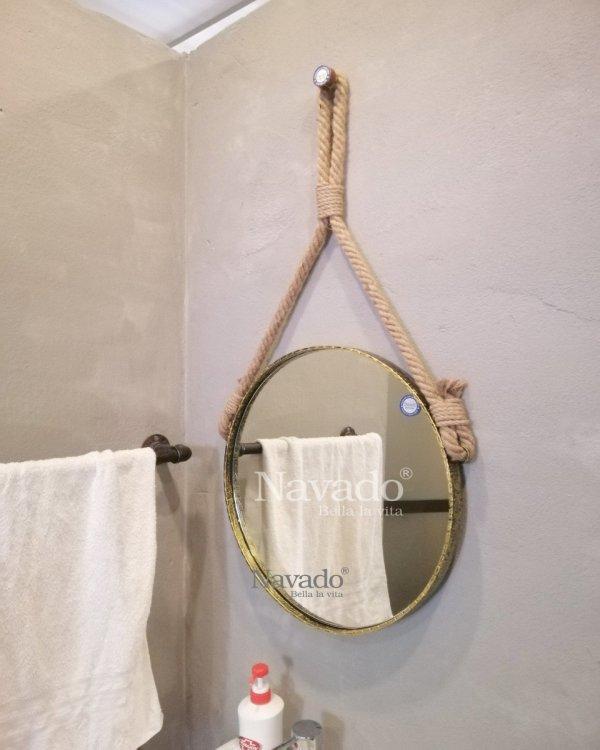 MODERN ROUND ROPE BATHROOM MIRROR