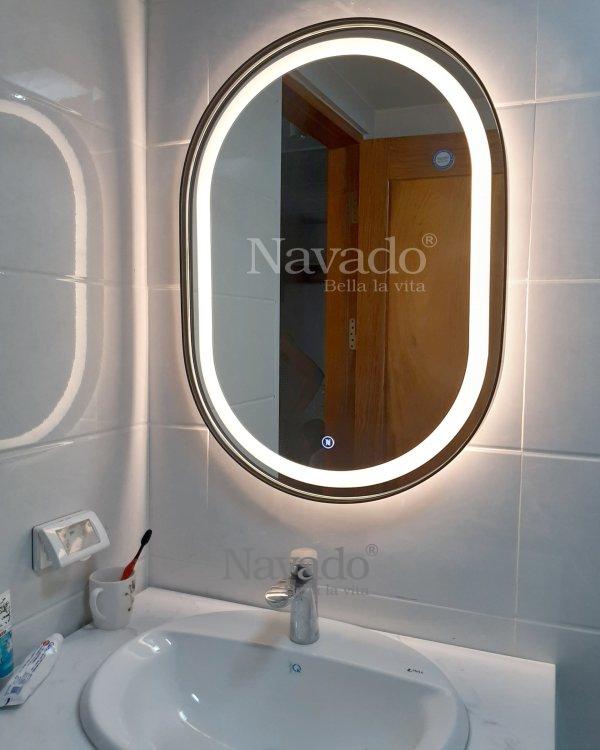 MODERN LED OVAL BATHROOM MIRROR DECORATE