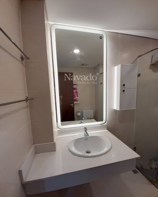 LED RECTANGLE BATHROOM MIRROR DECORATE