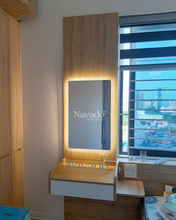 DECOR LED RECTANGLE MAKEP MIRROR WITH MODERN STYLE