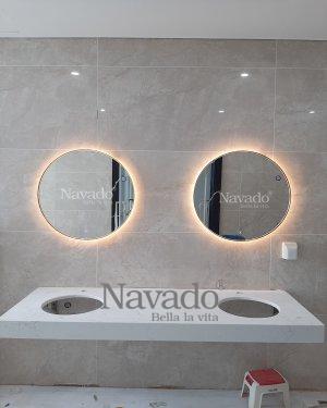 WALL LED BATHROOM MIRROR DECORATE