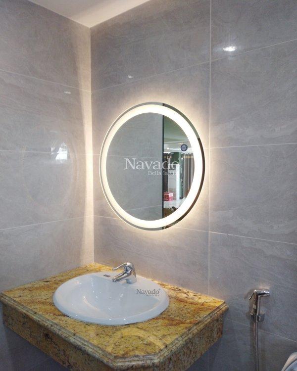 MODERN BATHROOM ROUND MIRROR STYLE