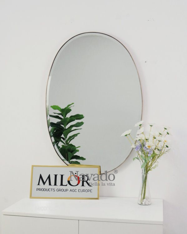 WALL MAKEUP MIRROR WITH BASIC ELIP DESIGN
