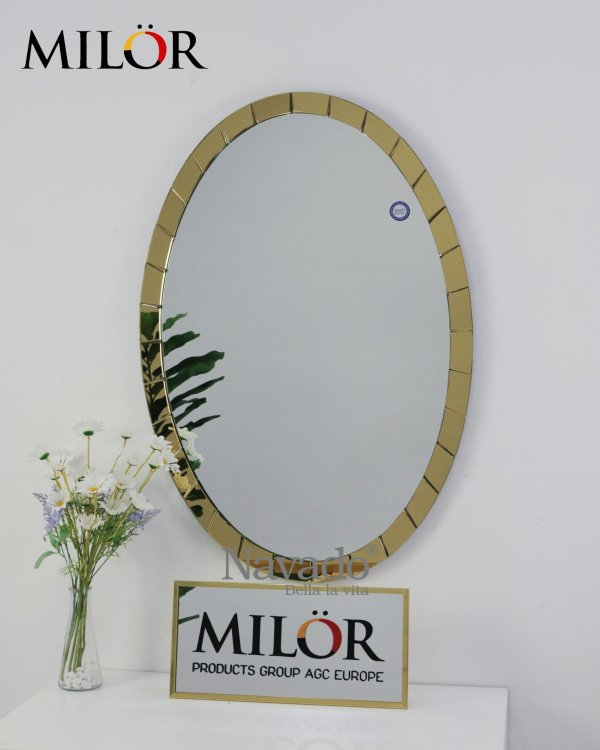 LUXURY ELIP MAKEUP MIRROR WITH GOLD FRAME