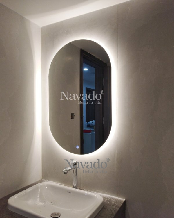 WALL OVAL LED BATHROOM WITH MODERN STYLE