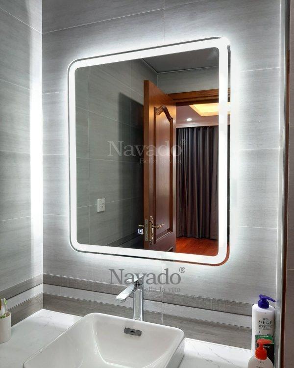 RECTANGLE DECOR BATHROOM MIRROR WITH MODERN STYLE