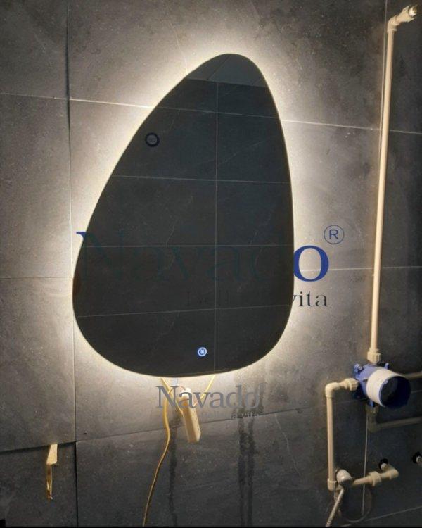 LED STONE BATHROOM MIRROR DESIGN