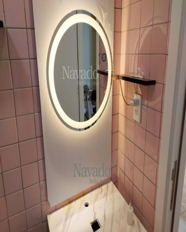 WALL DECOR MODERN RECTANGLE BATHROOM MIRROR WITH LED STYLE