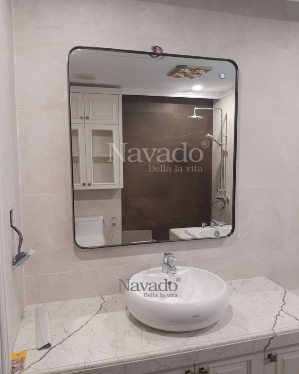 BIG SIZE RECTANGLE MIRROR WITH BLACK FRAME