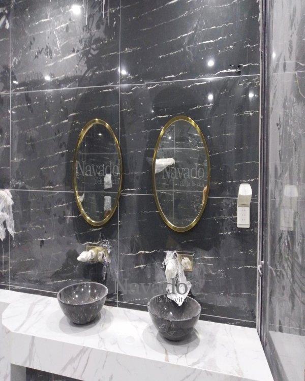 LUXURY ROUND BATHROOM MIROR DECORATE