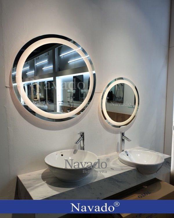ROUND LED MODERN WALL BATHROOM MIRROR