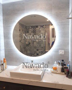 ROUND LED BATHROOM MIRROR WITH LUXURY STYLE