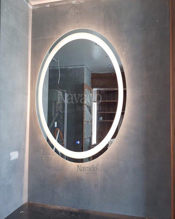 ROUND LED BATHROOM MIRROR DECOR HOUSE