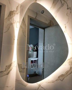 LED STONE BATHROOM MIRROR DECORATE