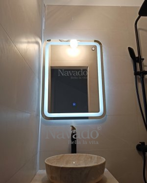 ART LED BATHROOM MIRROR DECORATE FOR HOUSE